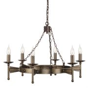Cromwell 6 Light Medieval Style Chandelier in an Old Bronze Finish - ELSTEAD CW6